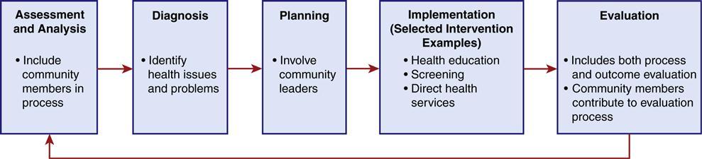 community diagnosis planning and intervention nurse key