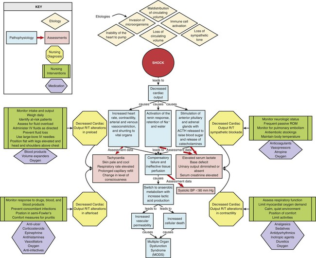 septic shock concept map Shock Sepsis And Multiple Organ Dysfunction Syndrome Nurse Key
