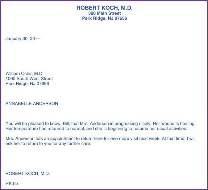 Written Communications And Mail Processing Nurse Key