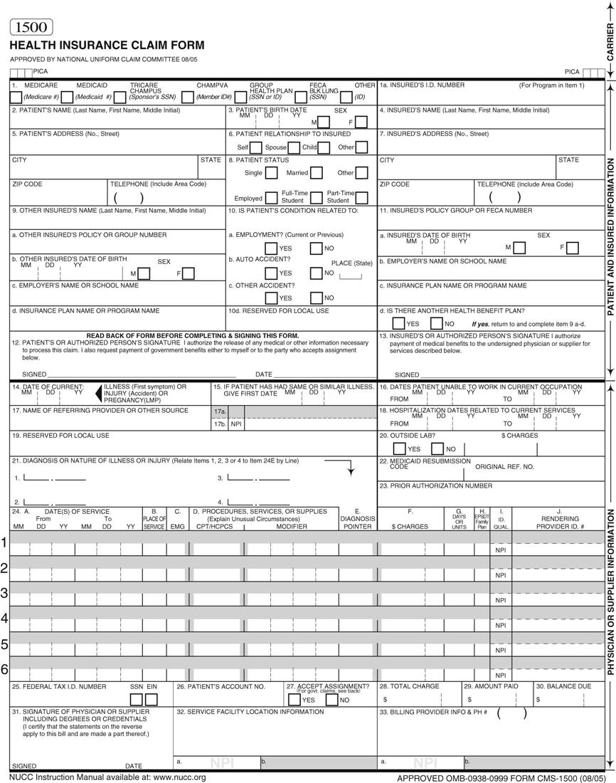 The Health Insurance Claim Form | Nurse Key